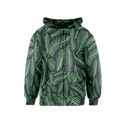Coconut Leaves Summer Green Kids  Zipper Hoodie