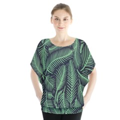 Coconut Leaves Summer Green Blouse