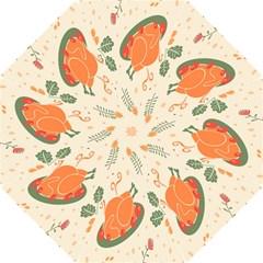 Happy Thanksgiving Chicken Bird Flower Floral Pumpkin Sunflower Folding Umbrellas