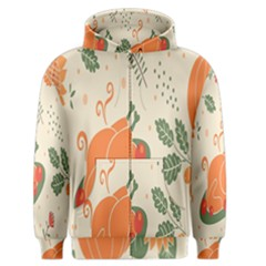 Happy Thanksgiving Chicken Bird Flower Floral Pumpkin Sunflower Men s Zipper Hoodie