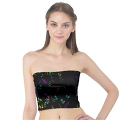 Colorful Music Notes Rainbow Tube Top