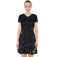 Colorful Music Notes Rainbow Adorable In Chiffon Dress