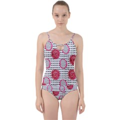Fruit Patterns Bouffants Broken Hearts Dragon Polka Dots Red Black Cut Out Top Tankini Set