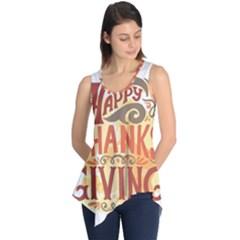 Happy Thanksgiving Sign Sleeveless Tunic