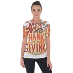 Happy Thanksgiving Sign Short Sleeve Top