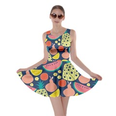 Fruit Pineapple Watermelon Orange Tomato Fruits Skater Dress