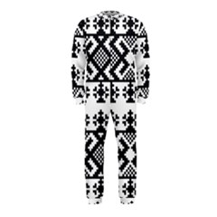 Model Traditional Draperie Line Black White Triangle Onepiece Jumpsuit (kids)