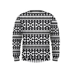 Model Traditional Draperie Line Black White Kids  Sweatshirt