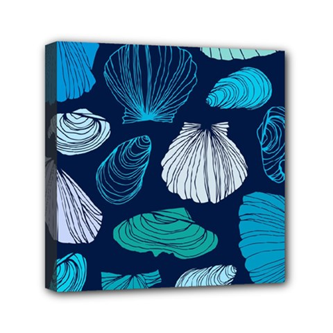 Mega Menu Seashells Mini Canvas 6  X 6