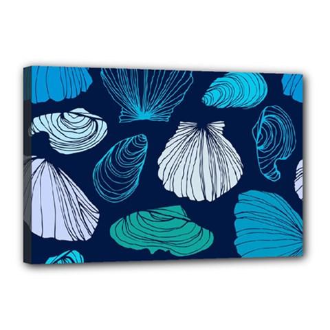 Mega Menu Seashells Canvas 18  X 12