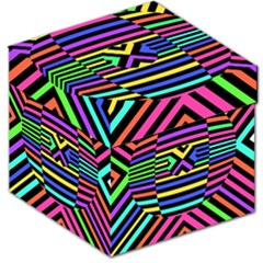 Optical Illusion Line Wave Chevron Rainbow Colorfull Storage Stool 12