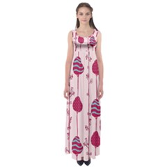 Original Tree Bird Leaf Flower Floral Pink Wave Chevron Blue Polka Dots Empire Waist Maxi Dress