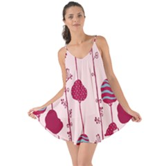 Original Tree Bird Leaf Flower Floral Pink Wave Chevron Blue Polka Dots Love The Sun Cover Up