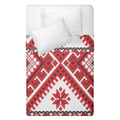 Model Traditional Draperie Line Red White Triangle Duvet Cover Double Side (single Size)
