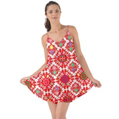 Plaid Red Star Flower Floral Fabric Love The Sun Cover Up