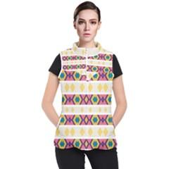Rhombus And Stripes                      Women s Puffer Vest