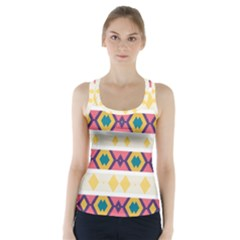 Rhombus And Stripes                             Racer Back Sports Top