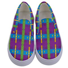Stripes And Dots                     Kids  Canvas Slip Ons