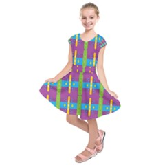 Stripes And Dots                               Kids  Short Sleeve Dress