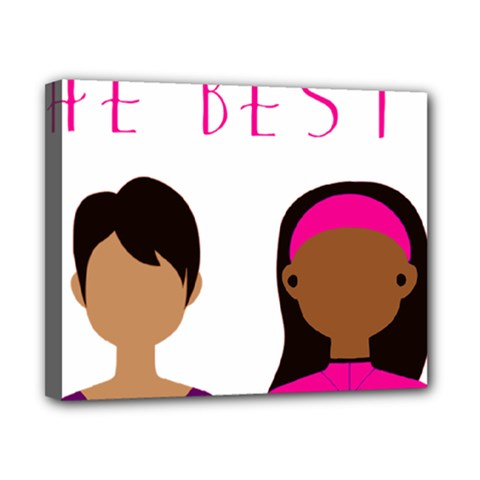 Black Girls Be The Best You Canvas 10  X 8
