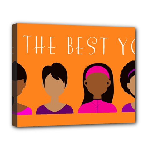 Black Girls Be The Best You Deluxe Canvas 20  X 16