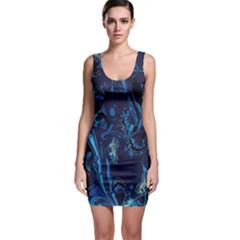 Pattern Butterfly Blue Stone Bodycon Dress