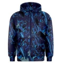 Pattern Butterfly Blue Stone Men s Zipper Hoodie