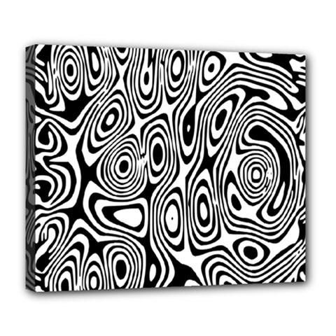 Psychedelic Zebra Black White Deluxe Canvas 24  X 20