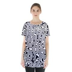 Psychedelic Zebra Black White Skirt Hem Sports Top