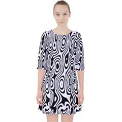 Psychedelic Zebra Black White Pocket Dress