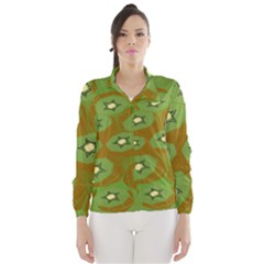 Relativity Pattern Moon Star Polka Dots Green Space Wind Breaker (women)