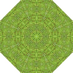 Digital Nature Collage Pattern Folding Umbrellas