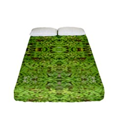 Digital Nature Collage Pattern Fitted Sheet (full/ Double Size)