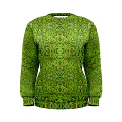 Digital Nature Collage Pattern Women s Sweatshirt