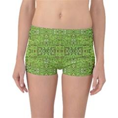 Digital Nature Collage Pattern Boyleg Bikini Bottoms