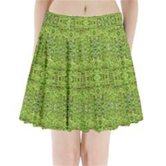 Digital Nature Collage Pattern Pleated Mini Skirt