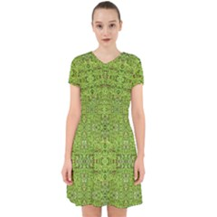 Digital Nature Collage Pattern Adorable In Chiffon Dress