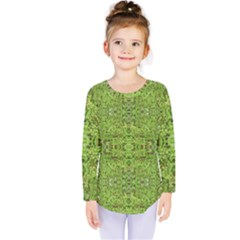 Digital Nature Collage Pattern Kids  Long Sleeve Tee