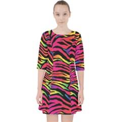 Rainbow Zebra Pocket Dress