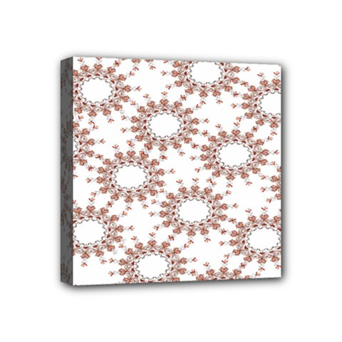 Pattern Flower Floral Star Circle Love Valentine Heart Pink Red Folk Mini Canvas 4  X 4