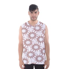 Pattern Flower Floral Star Circle Love Valentine Heart Pink Red Folk Men s Basketball Tank Top