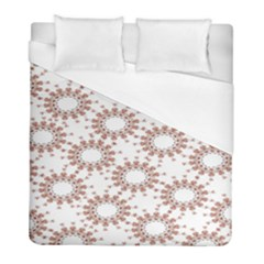 Pattern Flower Floral Star Circle Love Valentine Heart Pink Red Folk Duvet Cover (full/ Double Size)