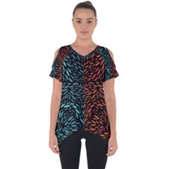 Square Pheonix Blue Orange Red Cut Out Side Drop Tee