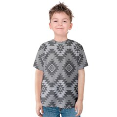 Triangle Wave Chevron Grey Sign Star Kids  Cotton Tee