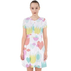 Tulip Lotus Sunflower Flower Floral Staer Love Pink Red Blue Green Adorable In Chiffon Dress
