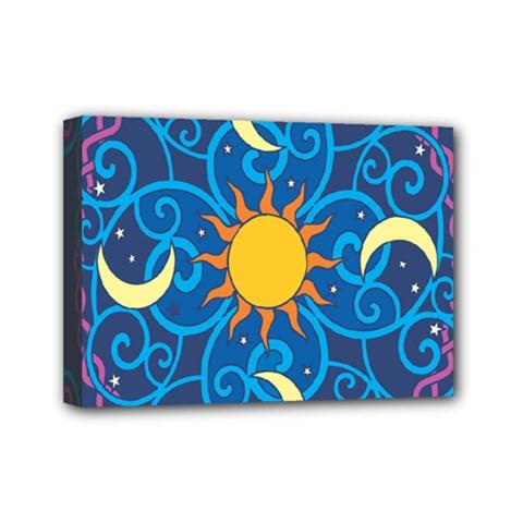 Sun Moon Star Space Vector Clipart Mini Canvas 7  X 5