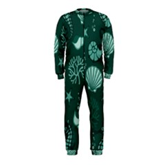 Vector Seamless Pattern With Sea Fauna Seaworld Onepiece Jumpsuit (kids)