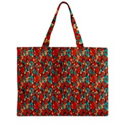 Surface Patterns Bright Flower Floral Sunflower Zipper Mini Tote Bag
