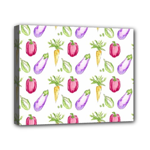 Vegetable Pattern Carrot Canvas 10  X 8
