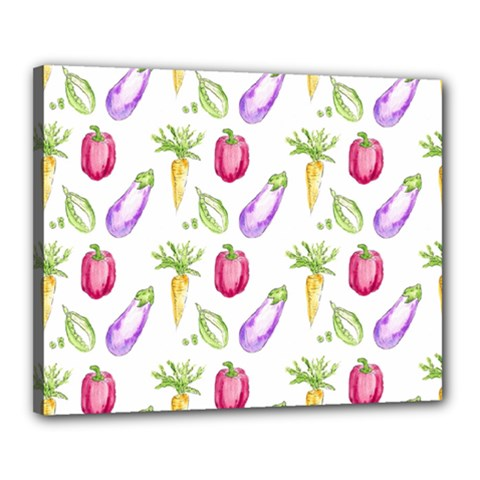 Vegetable Pattern Carrot Canvas 20  X 16